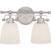 This item: Selby Brushed Nickel Two-Light Bath Vanity with Opal Glass