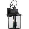 This item: Bryant Black Three-Light Outdoor Wall Sconce with Clear Glass