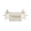 This item: Selby Brushed Nickel Two-Light LED Bath Vanity