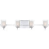 This item: Selby Polished Chrome Four-Light LED Bath Vanity with Outer Clear Glass