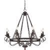 This item: Wellington Black Eight-Light Chandelier
