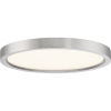 This item: Uptown Brushed Nickel 11-Inch LED Flush Mount