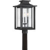 This item: Bryant Black Three-Light Outdoor Post Mount