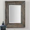 This item: Hayden Distressed Wood Rectangular Framed Wall Mirror
