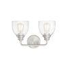 This item: Evelyn Satin Nickel Two-Light Bath Vanity