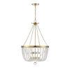 This item: Monroe Warm Brass Four-Light Pendant