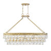 This item: Kelly Warm Brass Eight-Light Chandelier