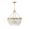 This item: Kelly Warm Brass Four-Light Pendant