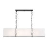 This item: Loring Matte Black Eight-Light Chandelier
