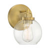 This item: Fredrick Warm Brass One-Light Bath Vanity