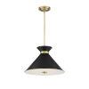 This item: Cora Black and Warm Brass Three-Light Pendant