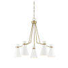 This item: Cora White and Warm Brass Five-Light Chandelier