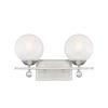 This item: Nicollet Satin Nickel Two-Light Bath Vanity