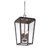 This item: Uptown English Bronze Four-Light Outdoor Pendant