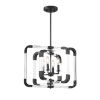 This item: Essex Matte Black 20-Inch Four-Light Semi-Flush Mount