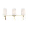 This item: Anna Warm Brass Three-Light Bath Vanity
