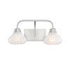 This item: Eloise Satin Nickel Two-Light Bath Vanity