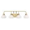 This item: Eloise Warm Brass Four-Light Bath Vanity