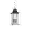 This item: Elle Black Four-Light Outdoor Pendant