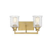 This item: Isles Warm Brass Two-Light Bath Vanity