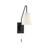 This item: Whittier Matte Black One-Light Wall Sconce