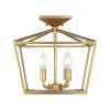 This item: Kenwood Warm Brass Four-Light Semi-Flush Mount