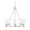 This item: Nora Satin Nickel Five-Light Chandelier