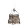 This item: Sophia Aged Driftwood Four-Light Outdoor Pendant