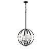 This item: Nora Matte Black and Polished Nickel Three-Light Pendant