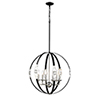 This item: Nora Matte Black and Polished Nickel Six-Light Pendant