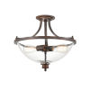 This item: Anna Rubbed Bronze Two-Light Semi-Flush Mount