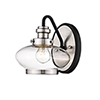 This item: Finn Matte Black and Satin Nickel One-Light Wall Sconce