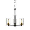 This item: Finn Matte Black and Heirloom Bronze 23-Inch Three-Light Chandelier