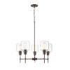 This item: York Rubbed Bronze Five-Light Chandelier