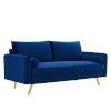 This item: Vivian Navy Upholstered Sofa