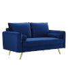 This item: Vivian Navy Upholstered Loveseat