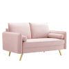 This item: Vivian Pink Upholstered Loveseat