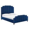 This item: Vivian Navy and Black Queen Platform Bed