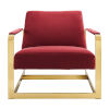 This item: Monroe Gold and Maroon Performance Velvet Accent Chair