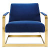 This item: Monroe Gold and Navy Performance Velvet Accent Chair