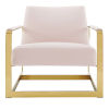 This item: Monroe Gold and Pink Performance Velvet Accent Chair