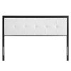 This item: Whittier Black and White Tufted Twin Headboard