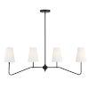 This item: Elle Matte Black Four-Light Chandelier