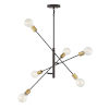 This item: Pax Oil Rubbed Bronze and Natural Brass Six-Light Chandelier