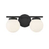 This item: Cora Matte Black Two-Light Bath Vanity with Opal Glass