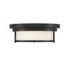 This item: Whittier Matte Black Two-Light Flush Mount
