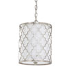 This item: Whittier Antique Silver Two-Light Drum Pendant