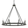 This item: Fulton Black Iron Eight-Light Minimalist Chandelier