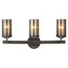 This item: Afton Bronze Three-Light Bath Vanity with Mercury Glass