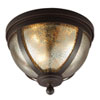 This item: Afton Bronze Three-Light Flush Mount with Mercury Glass